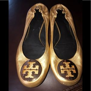Tory Burch leather ballerina style shoes
